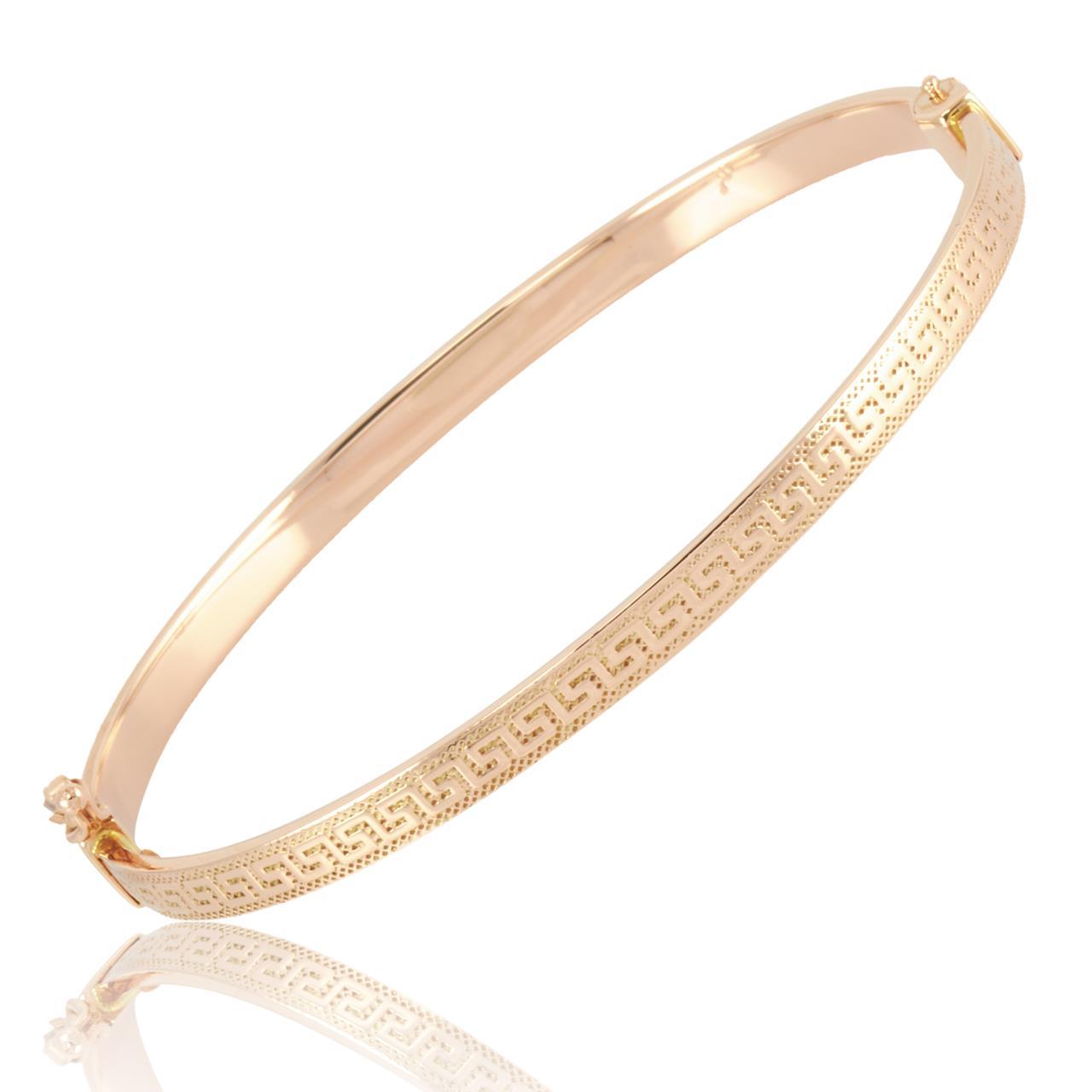 Altın Versace Model Kelepçe Bilezik